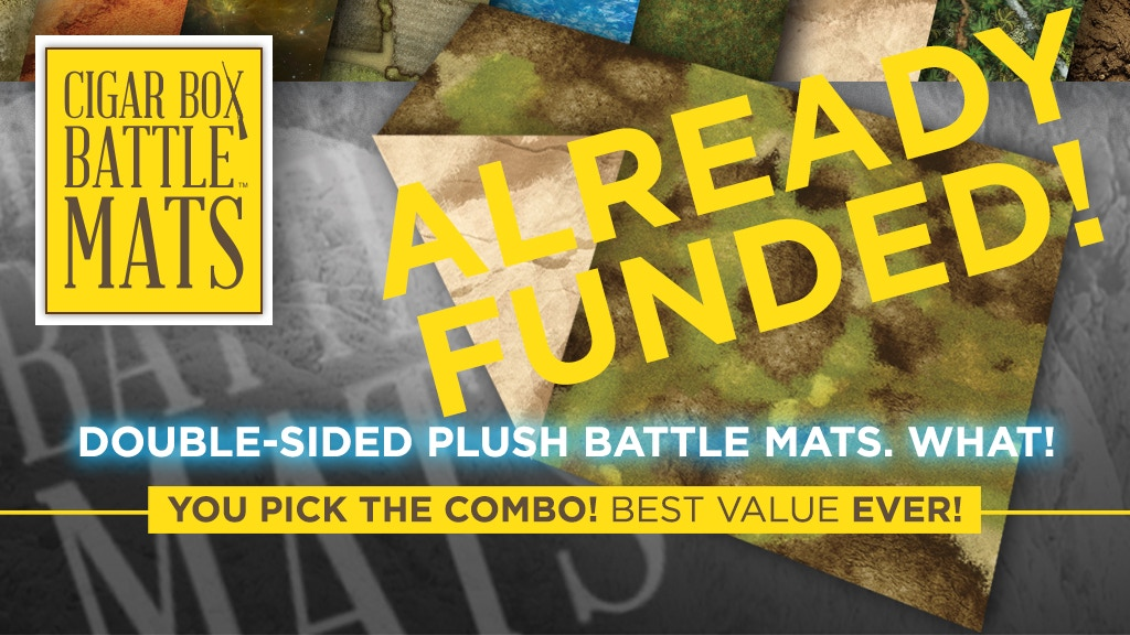 Double-Sided PLUSH Terrain Mats by Cigar Box Battle Mats project video thumbnail