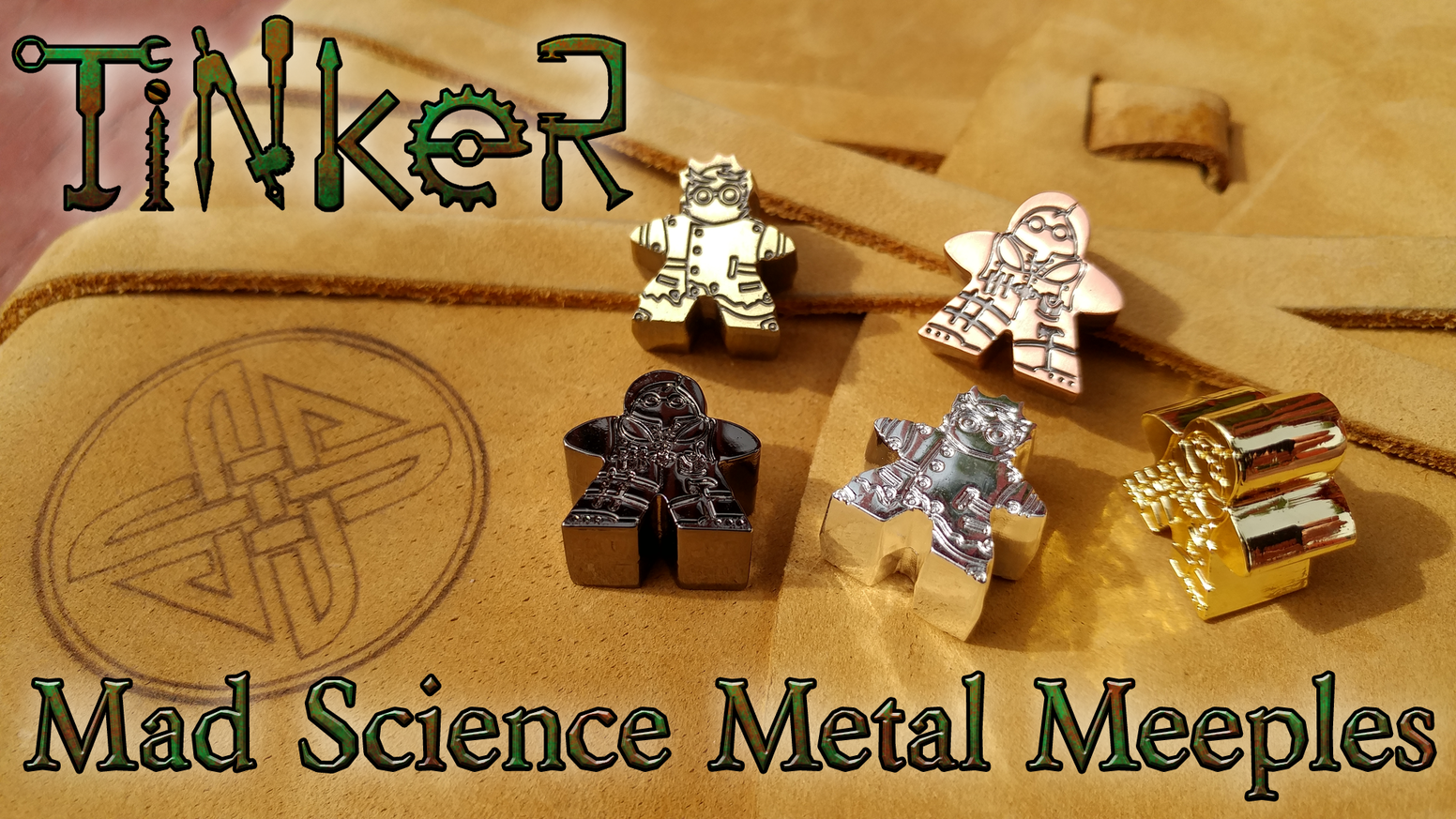 Mad Scientist and Tinkerer Mad Science Metal Meeples, for those times when you need More Science!!