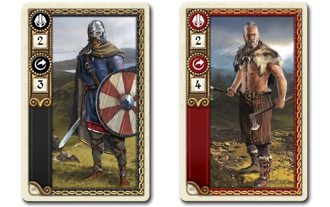 The Viking Norsemen and Berserker Movement Cards.