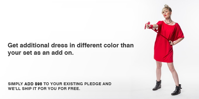 UNIQUE TRAVEL SET + ADDITIONAL DRESS Pledge you pay only Unique travel Set shipping. Dress travels for free!