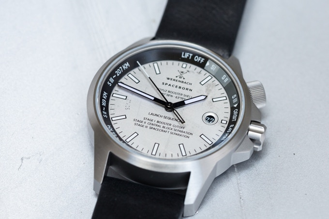 Modell 2. Scratches on the dial. Prototype.