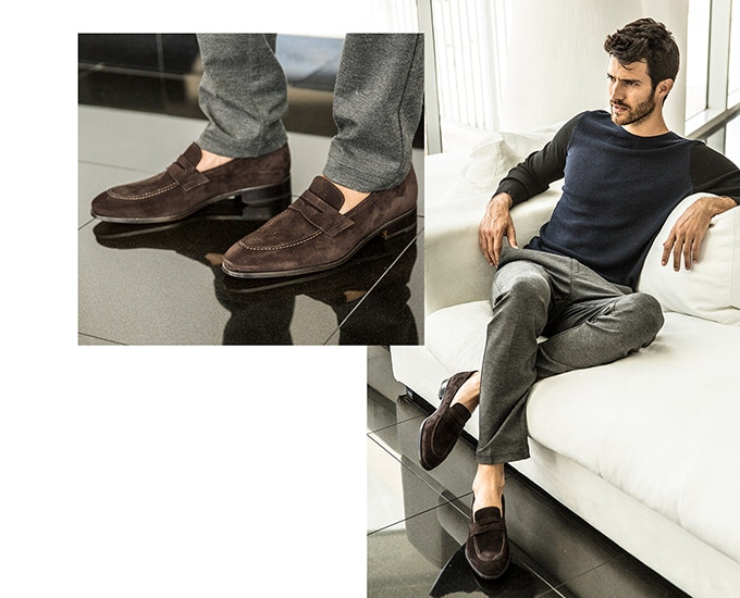 Penny Loafer Greg in Chocolate Suede