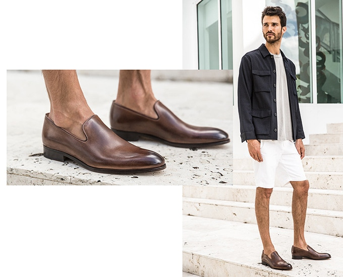 Limited Edition Slip on Loafer in Brown Antique