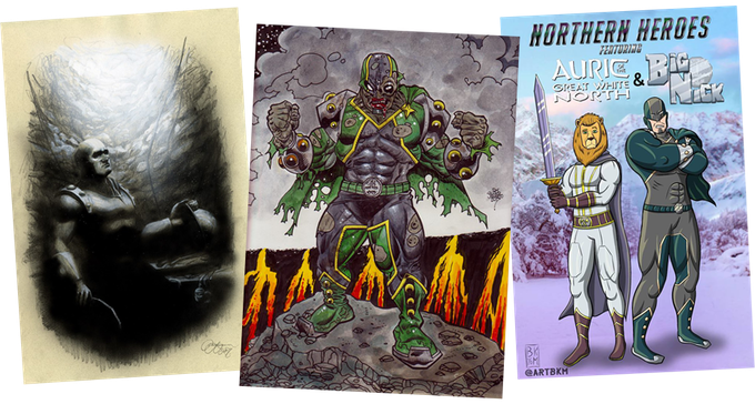 Big Nick Fan Art pages will include artworks by Illustrator Paul Limgenco, famed zombie artist Rob Sacchetto and many more!