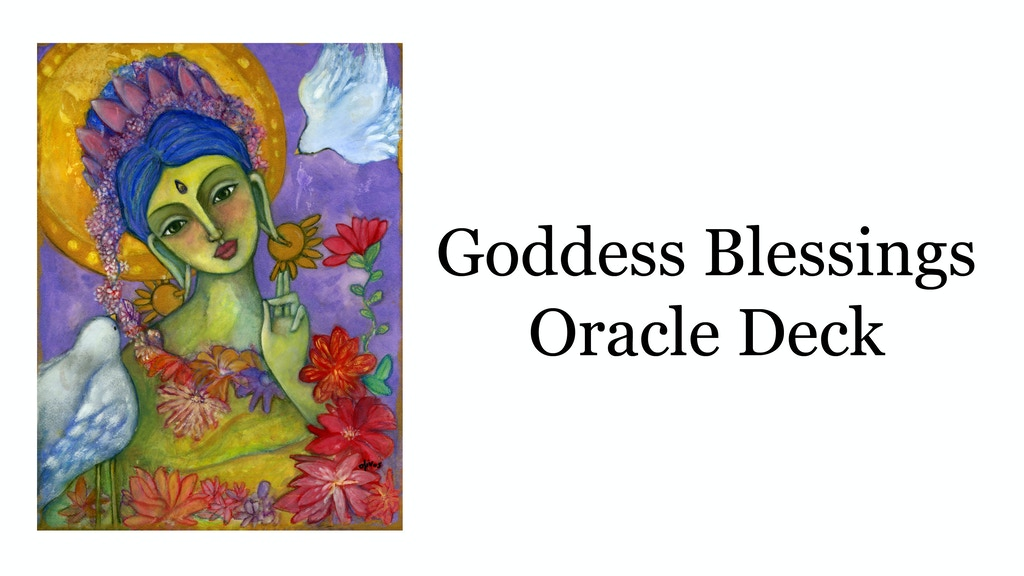 Goddess Blessings Oracle Deck project video thumbnail