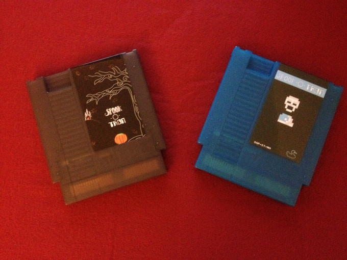 Working examples of the Numbered Edition and standard Kickstarter exclusive cartridges.