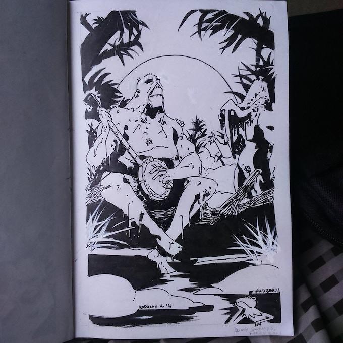 Example of a sketch by Rodrigo Vargas