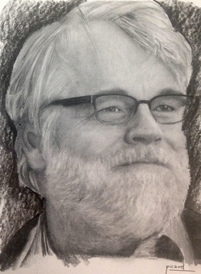 James Picard's original pencil drawing of the late great Philip Seymour Hoffman
