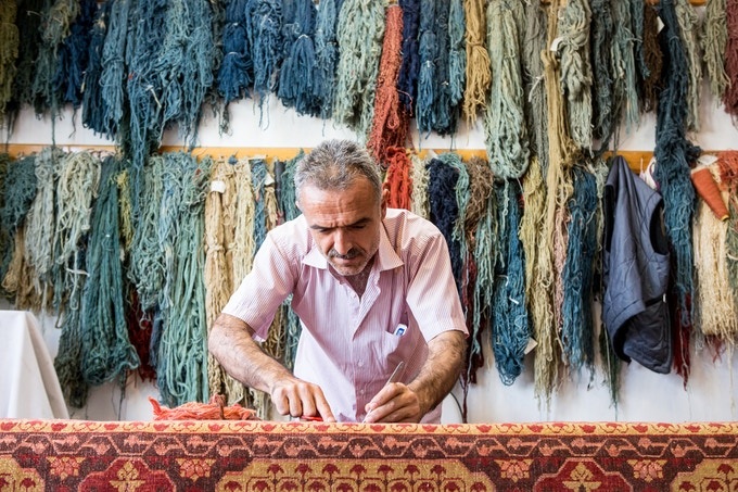 Over one million knots in this rug have been individually inspected for quality prior to final shipment