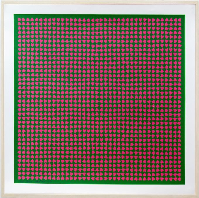 Burton Kramer Print - Hearts
