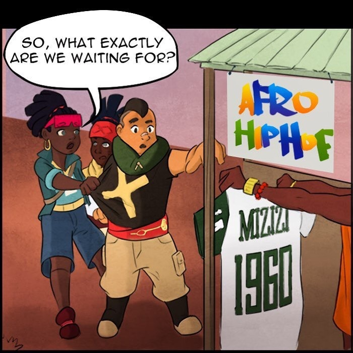 """RED ORIGINS is an epic Sci-fi Magical-Futurism AfroAnime Webtoons series that will ROCK YOUR WORLD! Click the """"Follow along!"""" to READ FOR FREE!"""