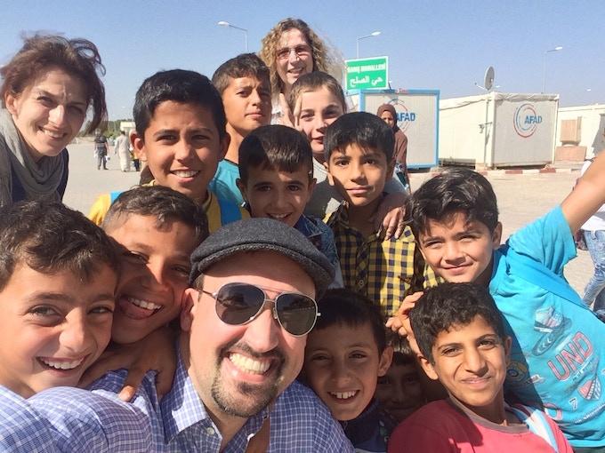 Josh and friends in Sanliurfa camp - Oct, 2016