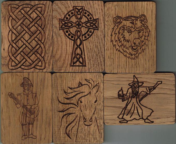 Update 4 images: Celtic Knot, Celtic Cross, Bard, Bear, Horse & Wizard