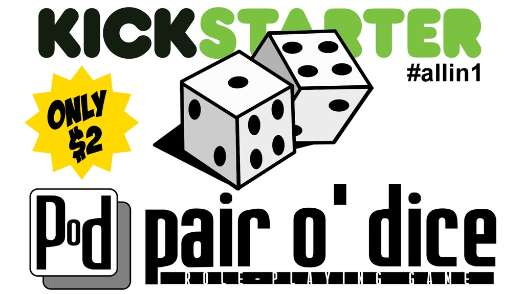 Pair O' Dice Role-Playing Game - ONLY $2 project video thumbnail