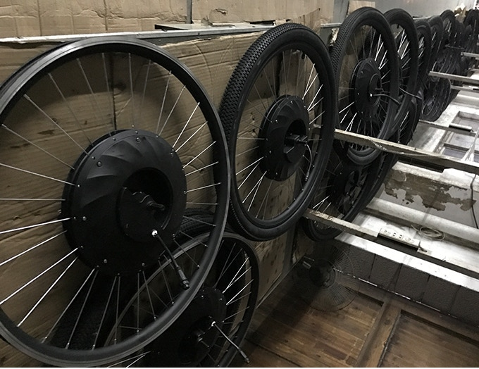 Completed wheels from our trial production run