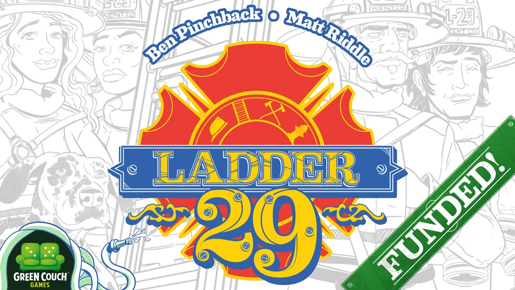 Ladder 29: Ladder climbing firefighters extinguishing cards. project video thumbnail
