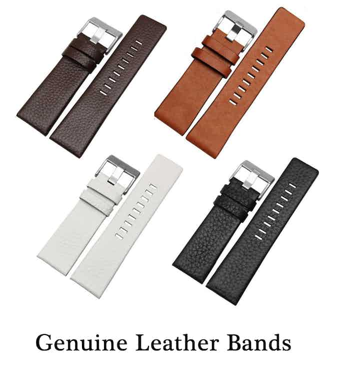 Four different colored genuine leather bands.
