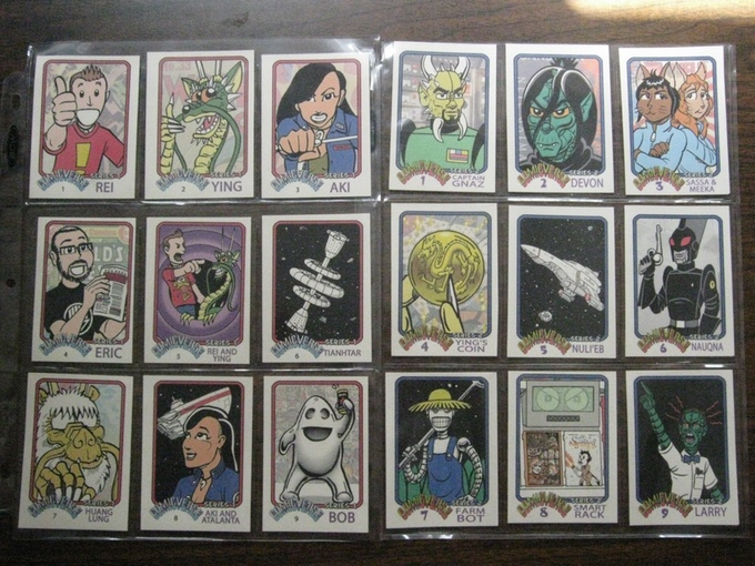 (TC1) Comicverse trading card set, includes series 1 and 2; 18 cards in all.