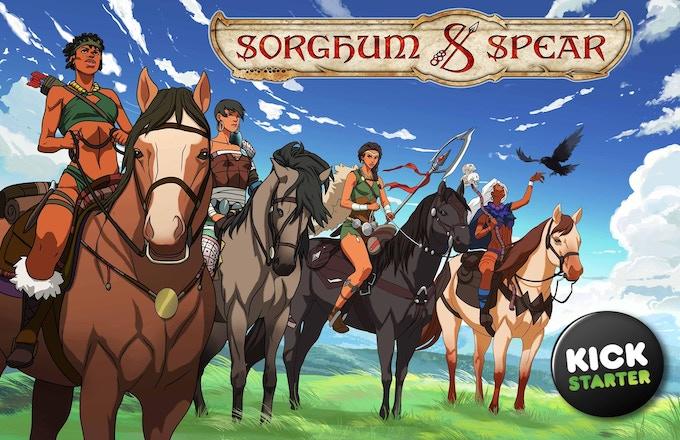 The Girls of Sorghum & Spear on horseback