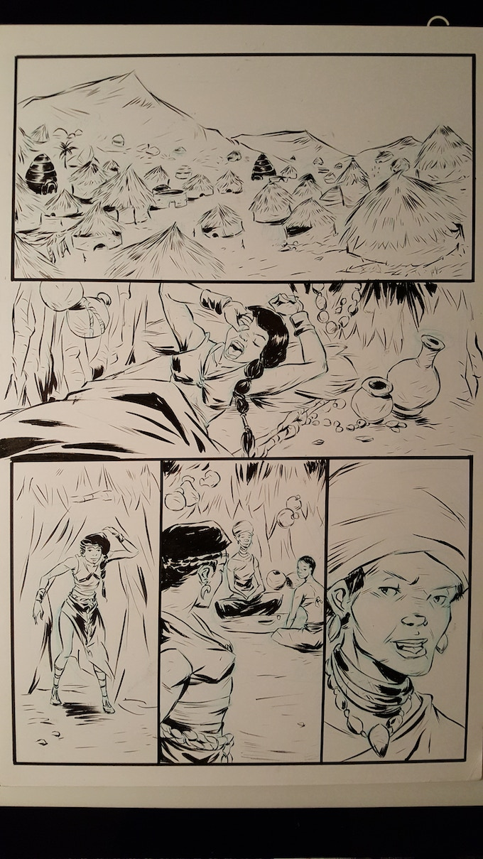 Inked Pages from Original Concept Book