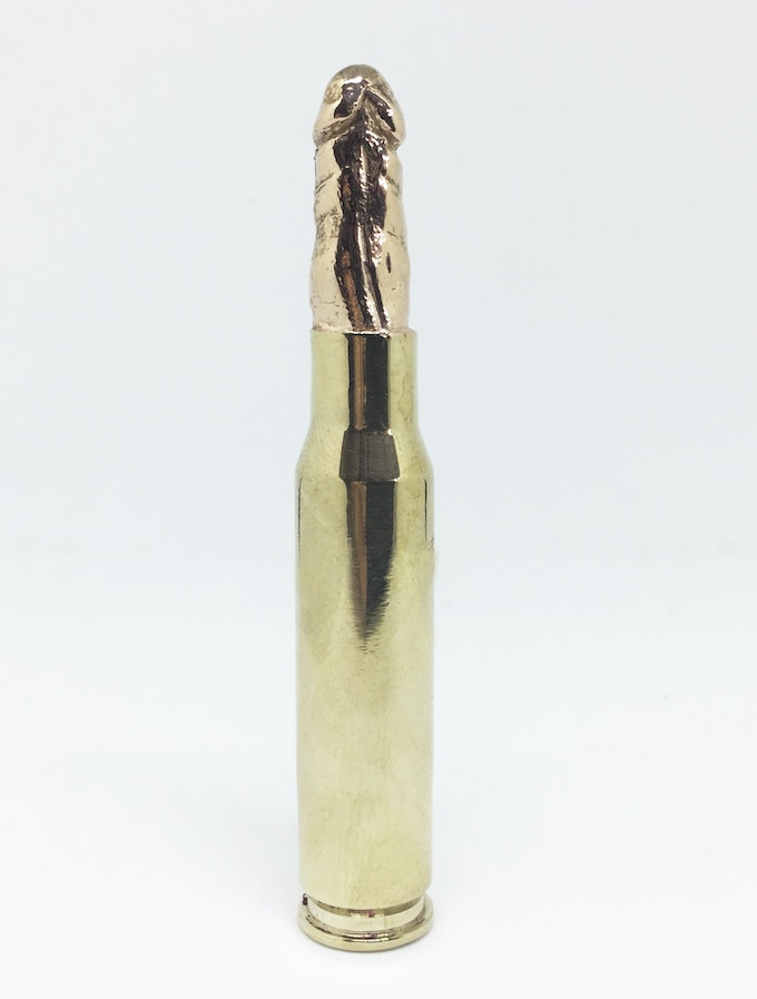 """£500 Donation: """"Youll be the death of me"""" , Bronze cast, 7cmX1.2cm (Diameter), 2017 Limited edition of 100, Michal Cole"""