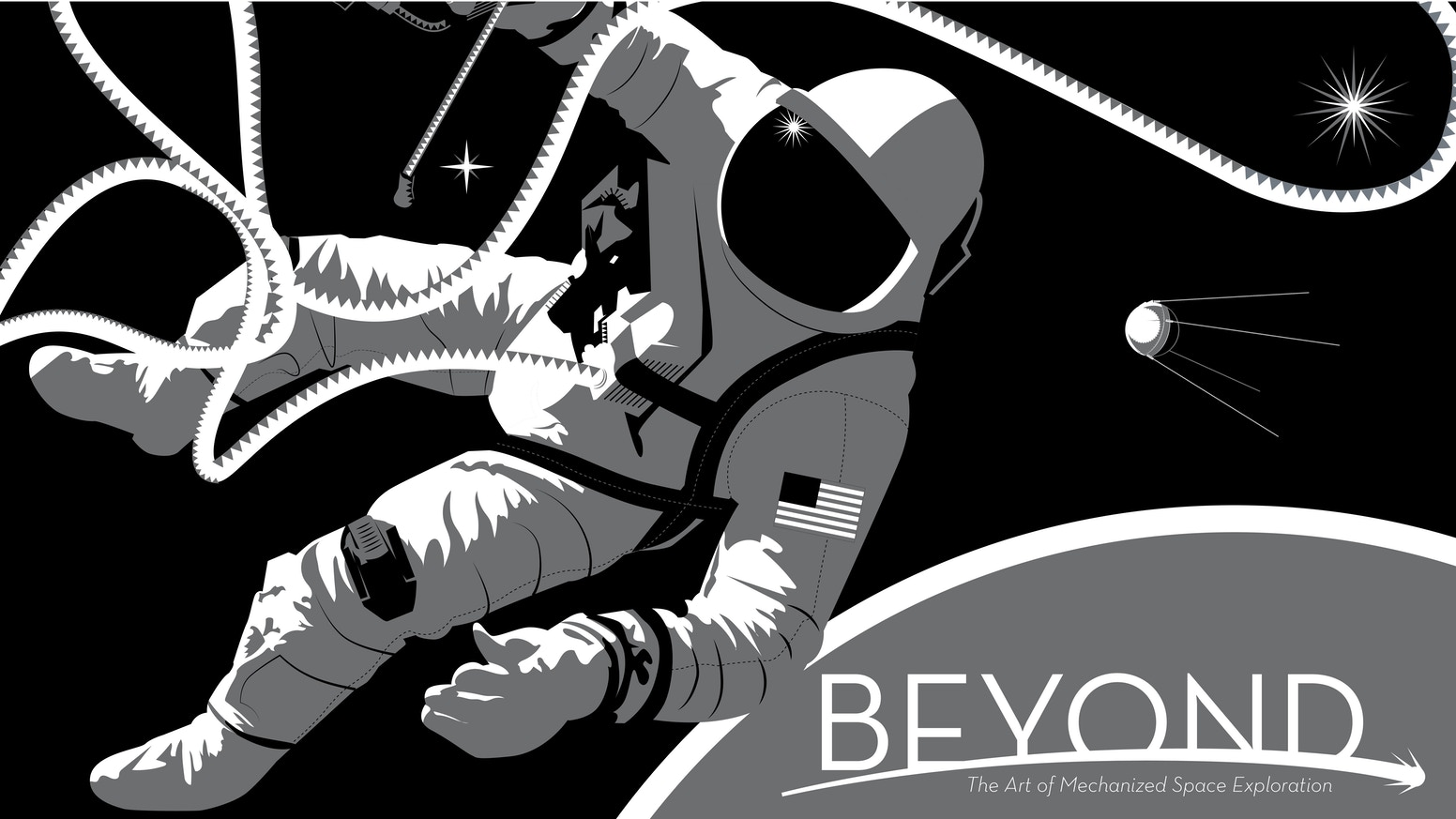 A beautiful hardcover collection of stunning graphic art featuring some of mankind's mechanical space explorers.
