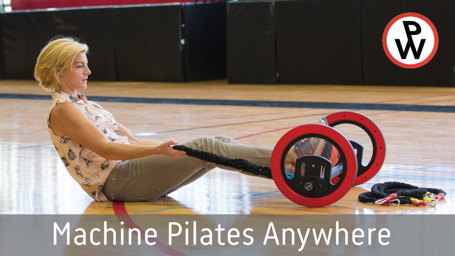 Pilates Wheel's innovative design and expert instruction allow you to perform 100s of machine Pilates moves anywhere, anytime.