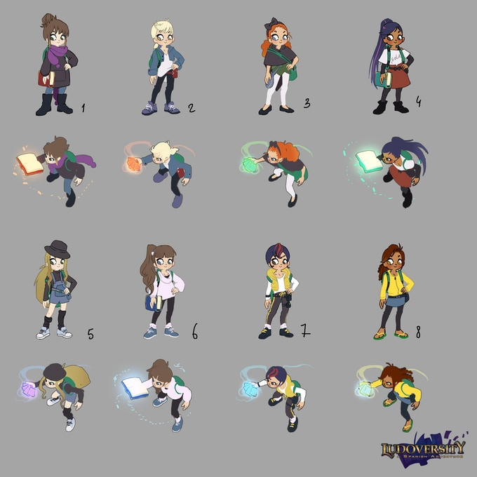 Variations of the female player character.