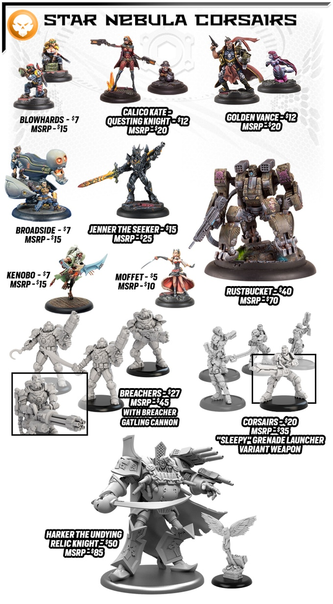 relic knights nd edition by soda pop miniatures kickstarter the star nebula corsairs strike from the deep of space to exploit the chaos that the calamity has sown throughout the last galaxy