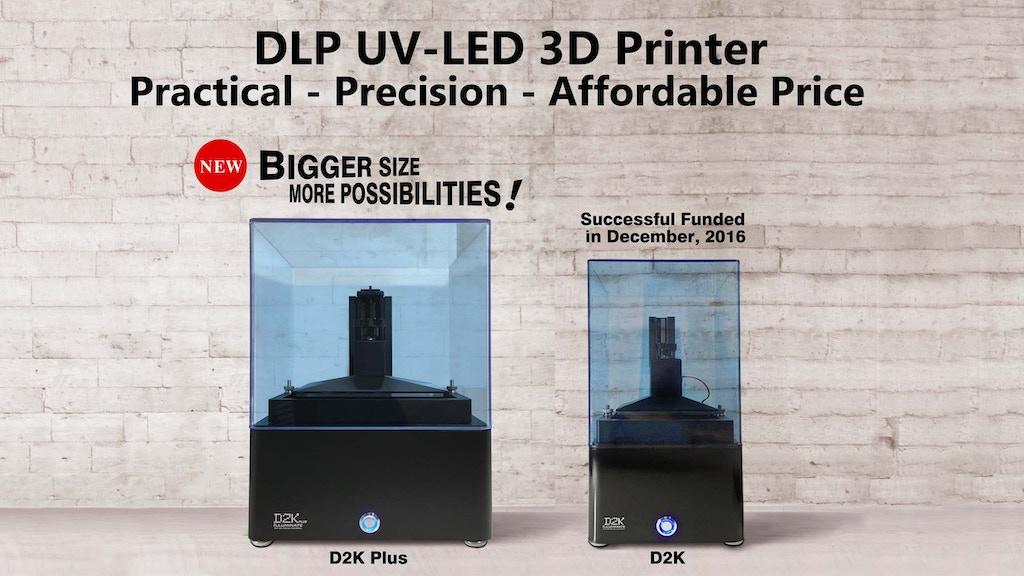 D2K Plus - Affordable DLP 3D Printer project video thumbnail