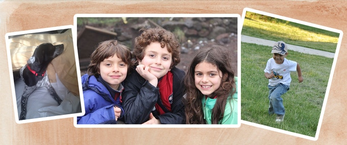 The real characters of Frugivoro in Fruityland: the adorable Contessa, Peter, Oliver, Alexandra & their cousin Alvaro