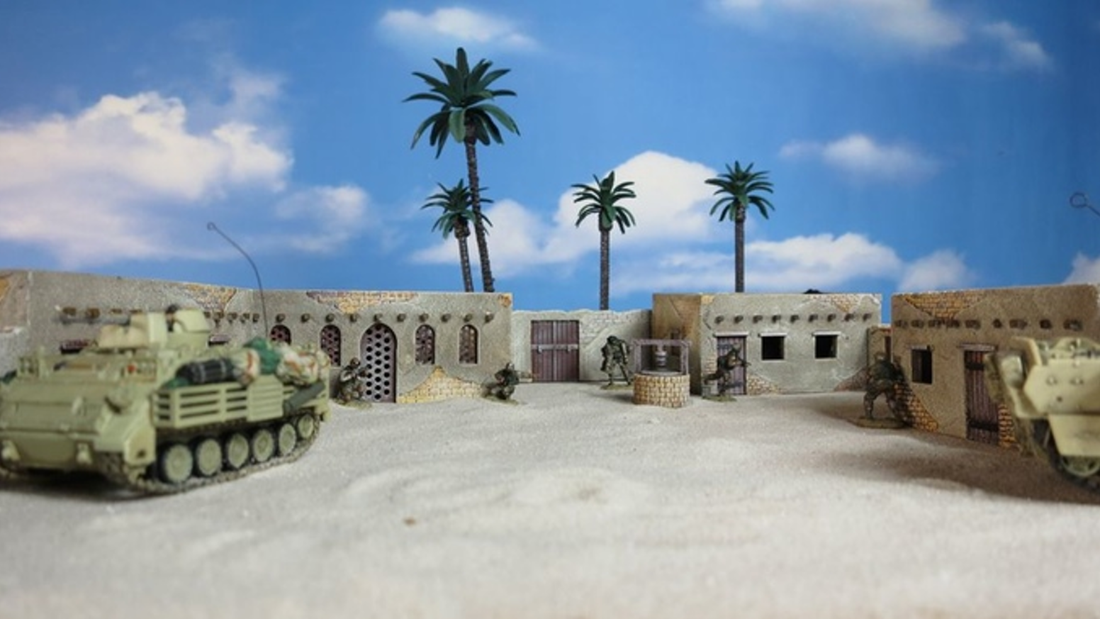 Print your own rural Arabic buildings. Files for Arabic buildings. With walls, a well. For all periods. Scale 15mm to 28mm. Much more terrain with reached stretchgoals