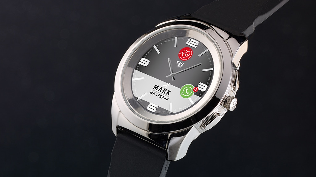 ZeTime: World's first smartwatch with hands over touchscreen project video thumbnail