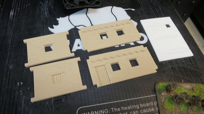 little house in parts printed in 15mm