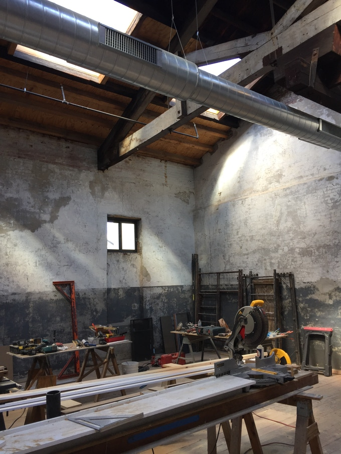 New studio space under construction at Globe Dye Works