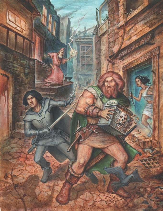 Fafhrd and the Gray Mouser. Art by Doug Kovacs.
