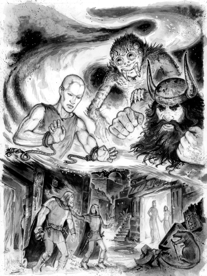 The gods in Lankhmar looking down upon the Twain.