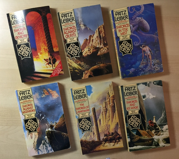 UK edition of Lankhmar novels