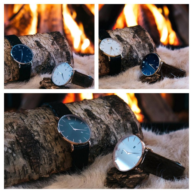 The Ulriken comes in 3 sizes, 36 mm,  38 mm, 40 mm. Choose between a Rose gold, gold or silver case.