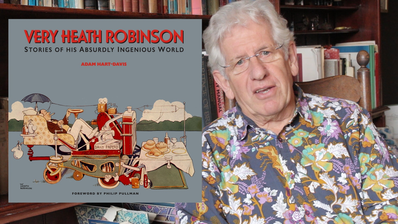 Let Adam Hart-Davis tell you the stories behind Heath Robinson's fanciful inventions, from the de luxe mower to the threesome bath.