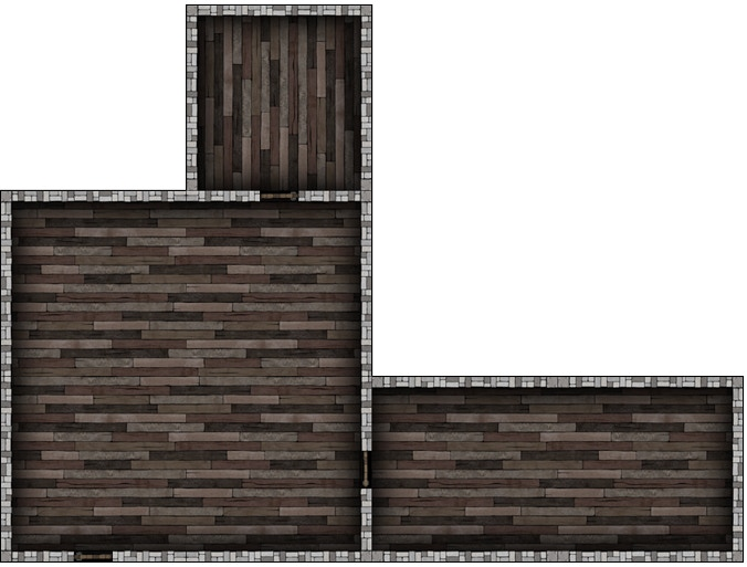 Here is an example of a house created with some tiles from the Empty Rooms Set