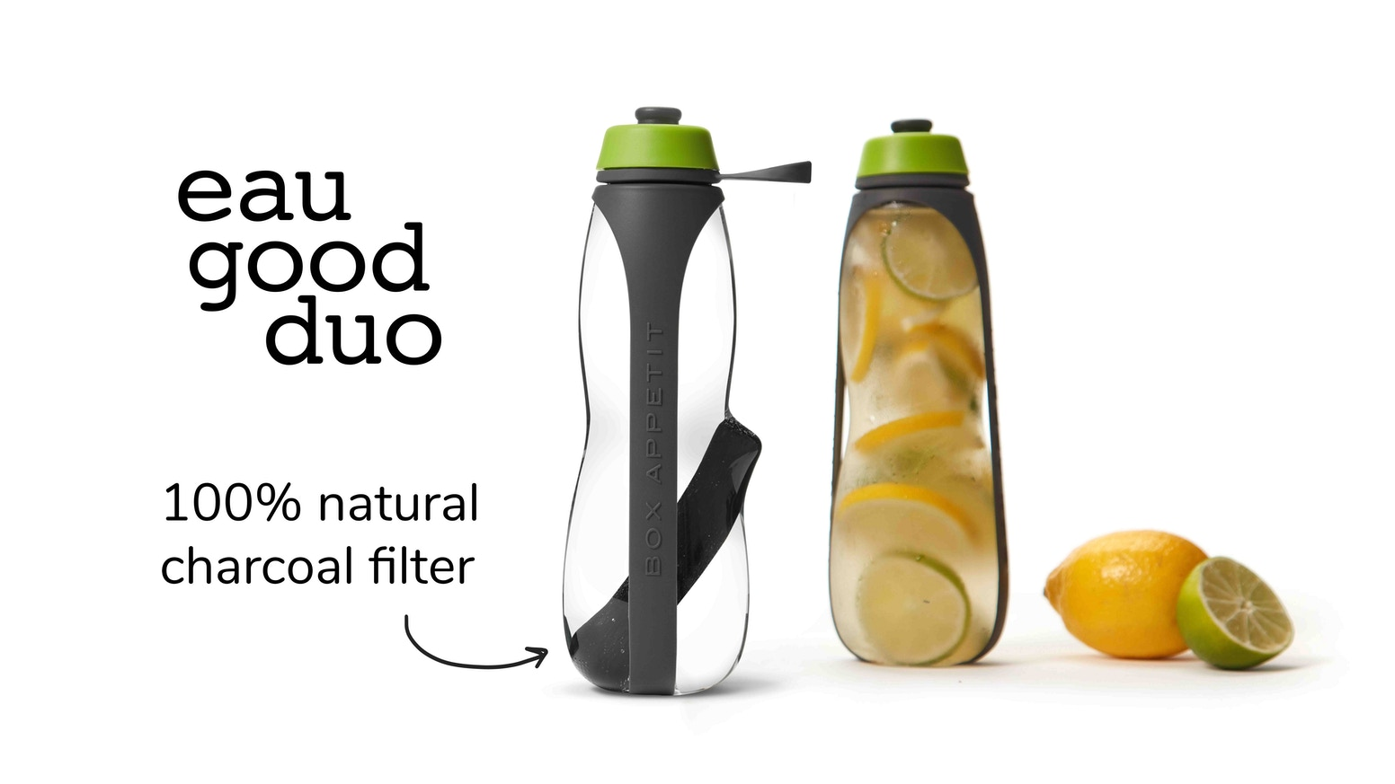 Created by Black+Blum, the Eau Good Duo has dual functionality, is beautifully designed and makes your tap water taste great!