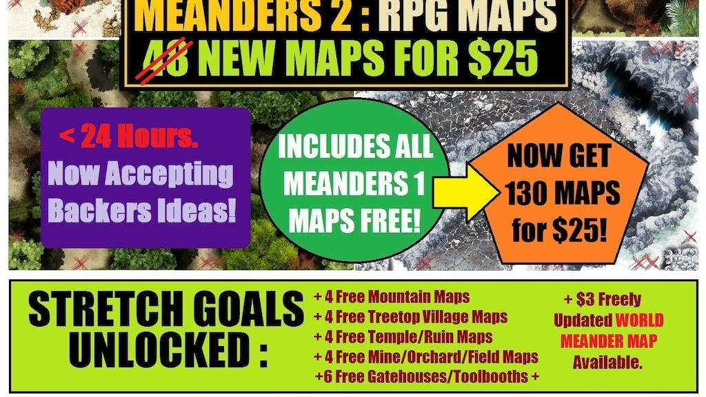 Meanders New Terrain Maps For RPG By Kris McDermott Kickstarter - Terrain maps free