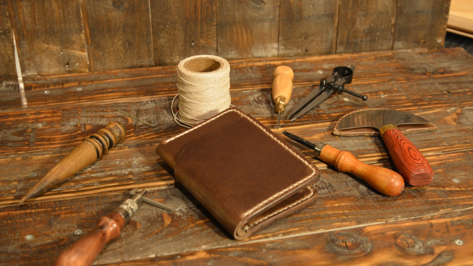 Handmade Leather Wallets by Colored Red Leather Goods by