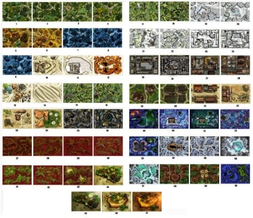 Original Meanders 1 maps - all free with pledge of $25 or higher