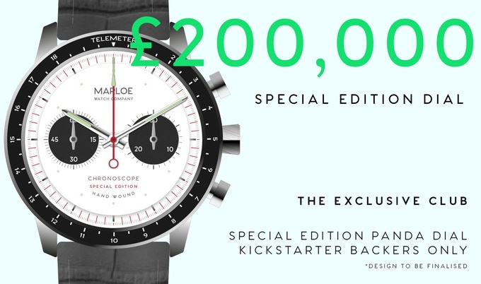 Stretch Goal #2 - £200,000 - A Special Edition Panda dial exclusively available to Backers