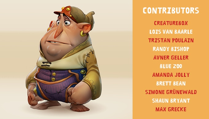 Artists featured in the first issue, and the character from Max Grecke's tutorial