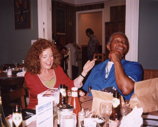 Anita Roddick and Robert King