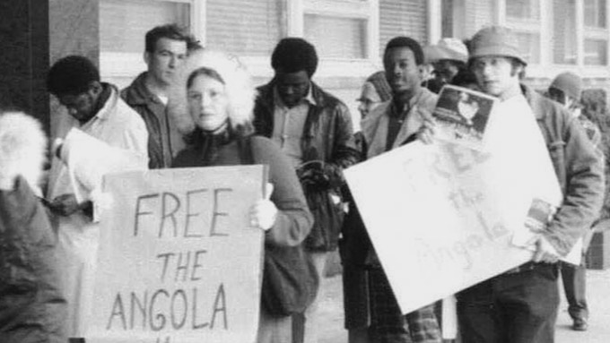Free the Angola 3 campaign supporters