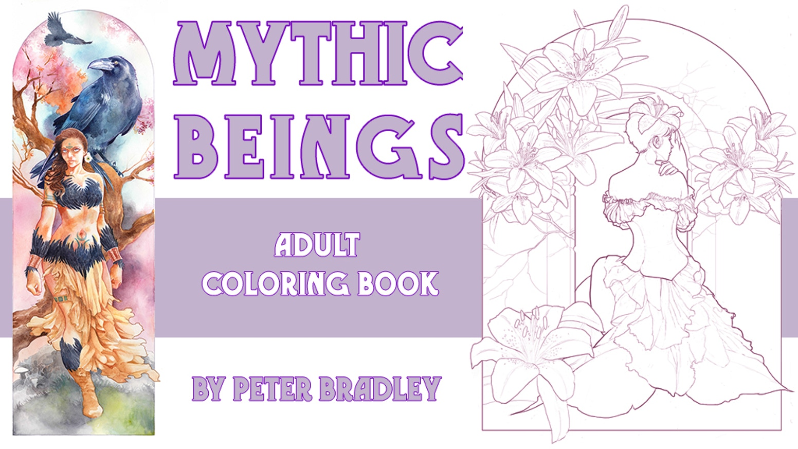 Publishers for adult coloring books - Mythic Beings Adult Coloring Book